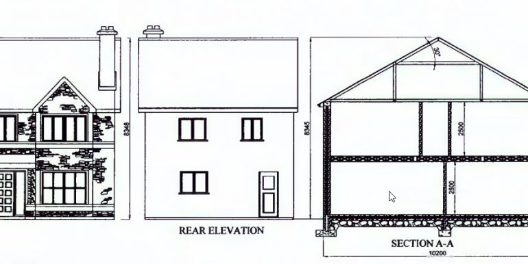 3 bed detached elevation