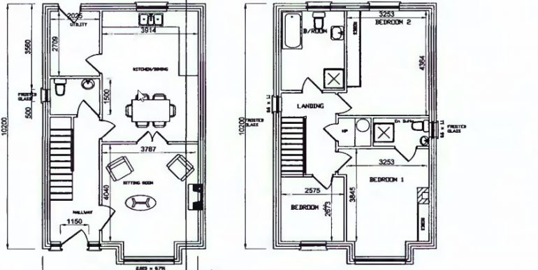 3 bed detached floor plans