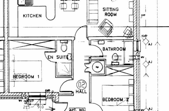 Close up floor plan